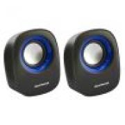 Caixa De Som USB 6W RMS  Preto/Azul  SP205