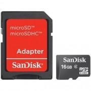 Cartão De Memória Micro Sd 16Gb Com Adaptador - Sandisk