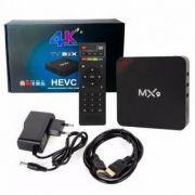Conversor Smart TV MX9 4K Ultra HD Wi-Fi Android HDMI C/ Controle Remoto