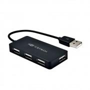 Hub USB 2.0 4 portas HU-220BK C3Tech