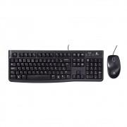 Kit teclado e Mouse Logitech MK120 USB C/ Fio Preto