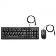 Kit Teclado e Mouse com Fio HP 160 USB Preto -