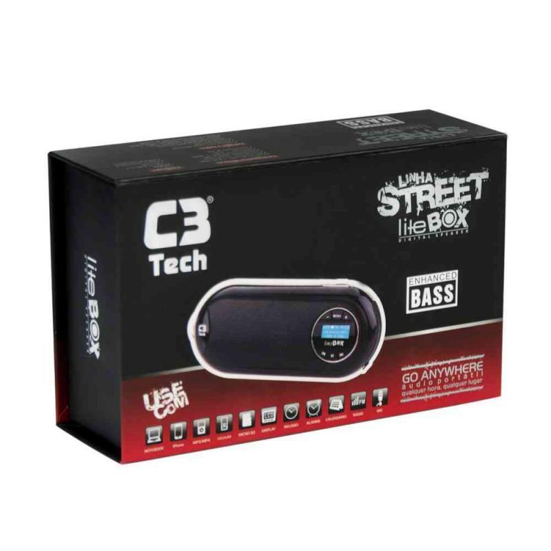 Caixa de Som C3 Tech Portátil ST-180 RD Vermelha