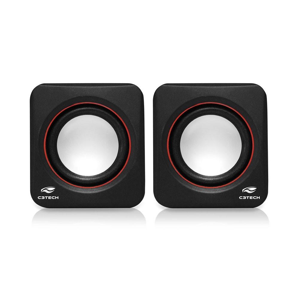 Caixa de Som Speaker 2.0 3W Preta SP-301BK - C3 Tech