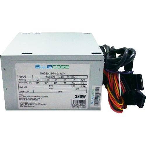 Fonte de Alimentação BLU230-T ATX Small- 230W Prata - BlueCase