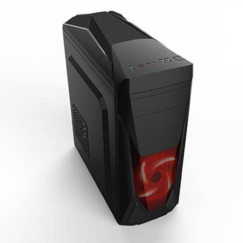 Gabinete Gamer Pc Atx New Snake Cooler Led Vermelho Usb 3.0