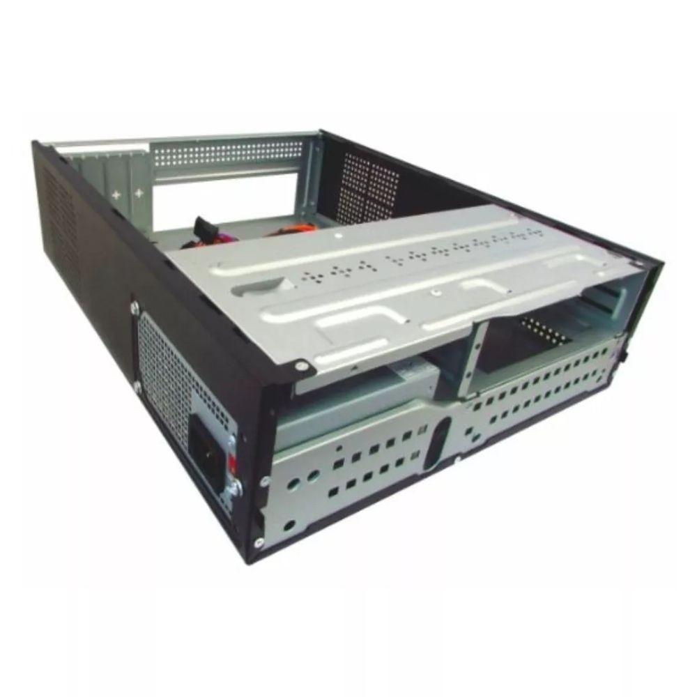 Gabinete K-Mex GM-07T7 Slim c/ Fonte Micro-ATX Preto