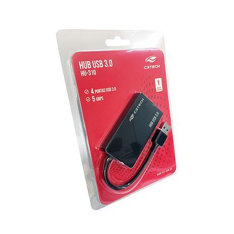 HUB USB 3.0 com 4 Portas 480MBPS HU-310BK - C3 Tech