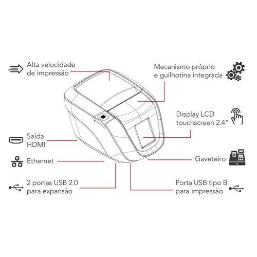 Impressora Control ID Não Fiscal de Cupom Print iD Touch USB