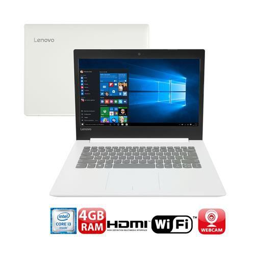 """Lenovo: Notebook Lenovo Core i3-6006U 4GB 500GB Tela 14"""" Windows 10 Ideapad 320"""