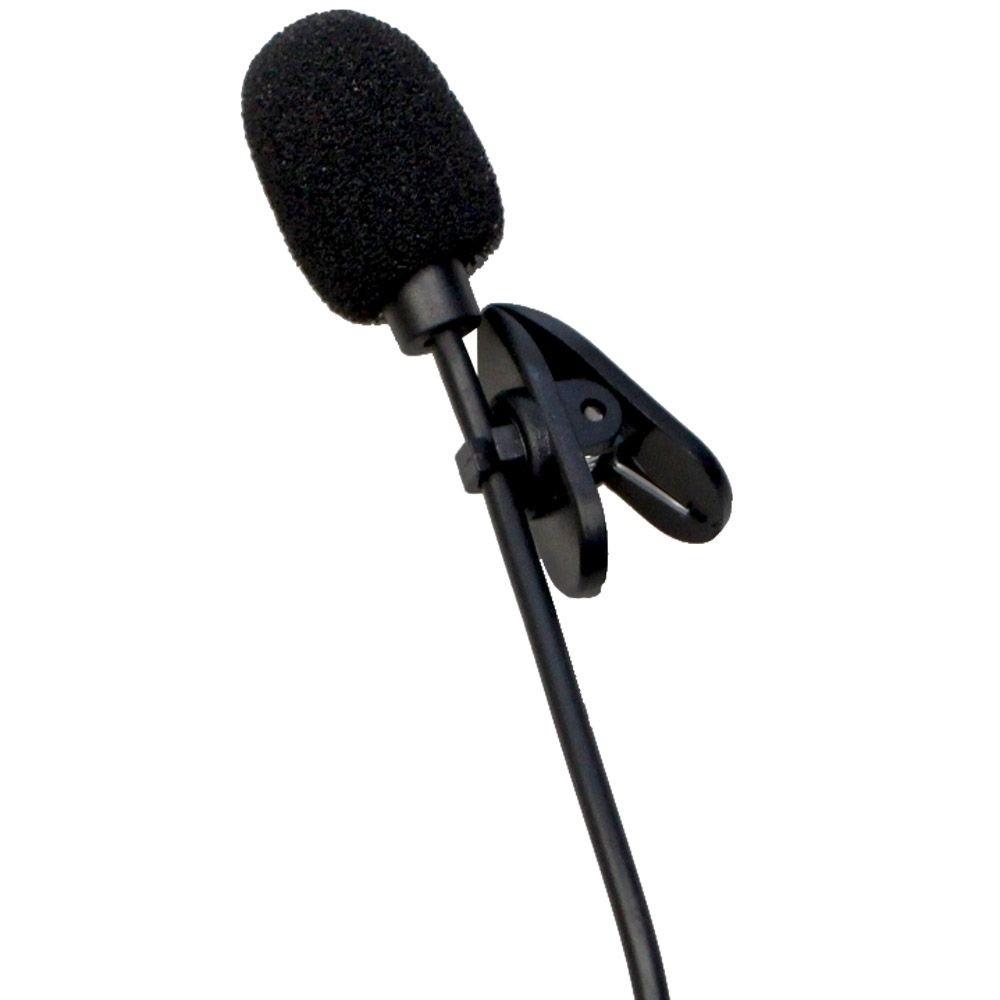 Microfone Lapela P2 1,50m com extensor 3m e adaptador P3 - MYMAX