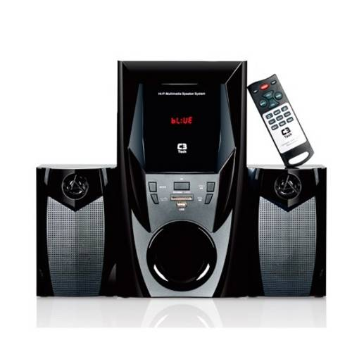 Mini System Speaker 2.1 Bluetooth Sd Usb 44w Rms Sp-365b - C3 Tech