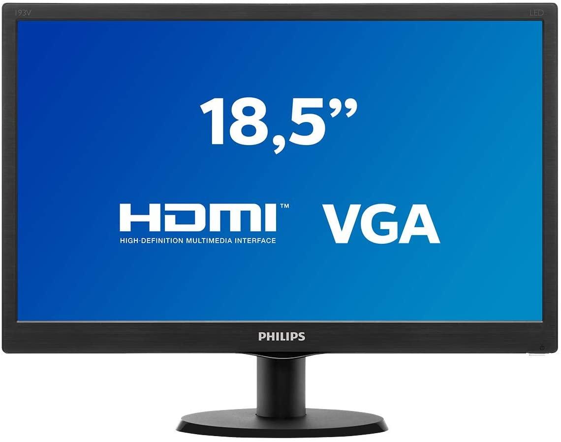 "Monitor Philips 18.5"" LED HDMI 193V5LHSB2"