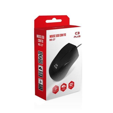 Mouse MS-27BK USB Preto C3Plus