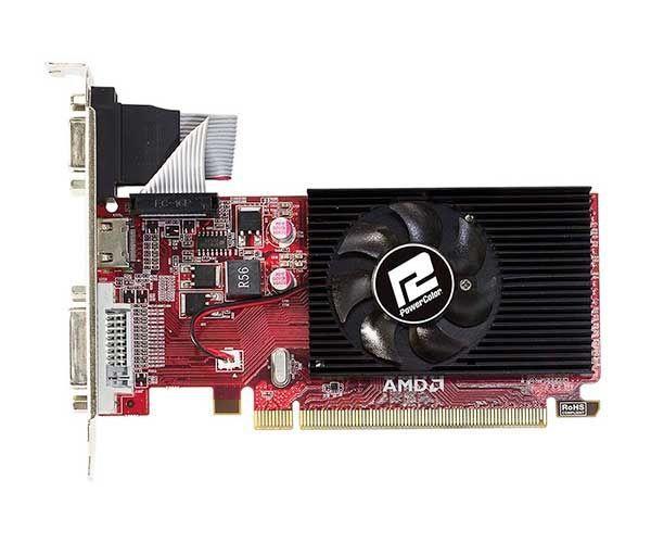 PLACA DE VIDEO POWERCOLOR RADEON R5 230 1GB DDR3 64-BIT, AXR5 230 1GBK3-SHE