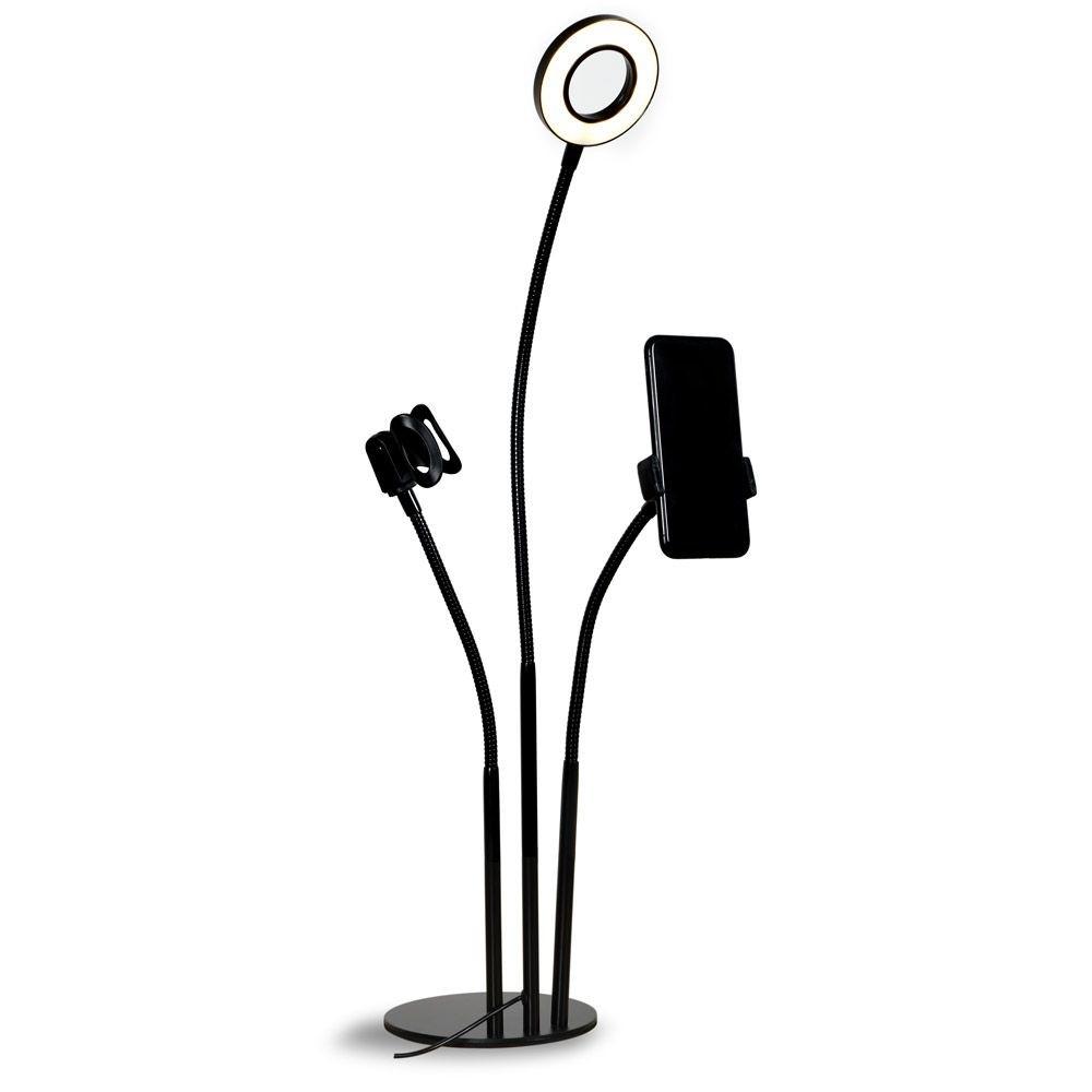 Ring Light USB e Suporte de Mesa para Smartphone e Microfone - MYMAX