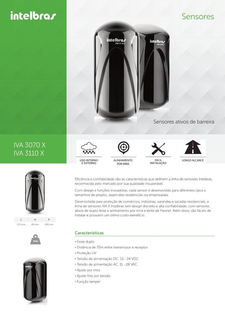 Sensor Ativo Intelbras Barreira Iva 3070 X