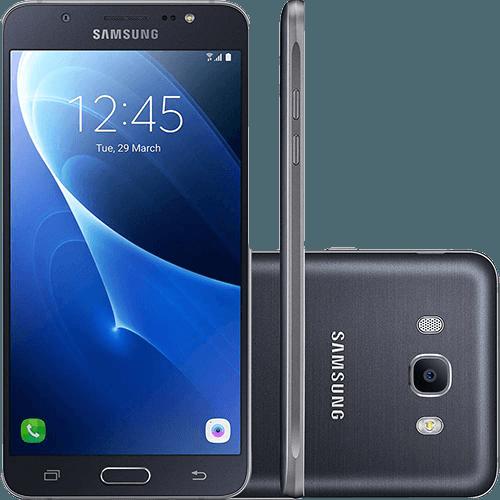"Smartphone Samsung Galaxy J7 Metal Dual Chip Android 6.0 Tela 5.5"" 16GB 4G Câmera 13MP - Preto"