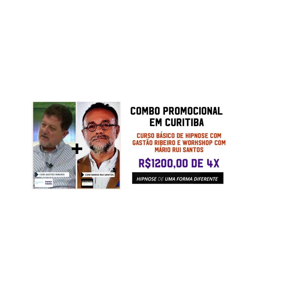 Combo Promocional de Curitiba - Workshop e Curso de Hipnose Básico