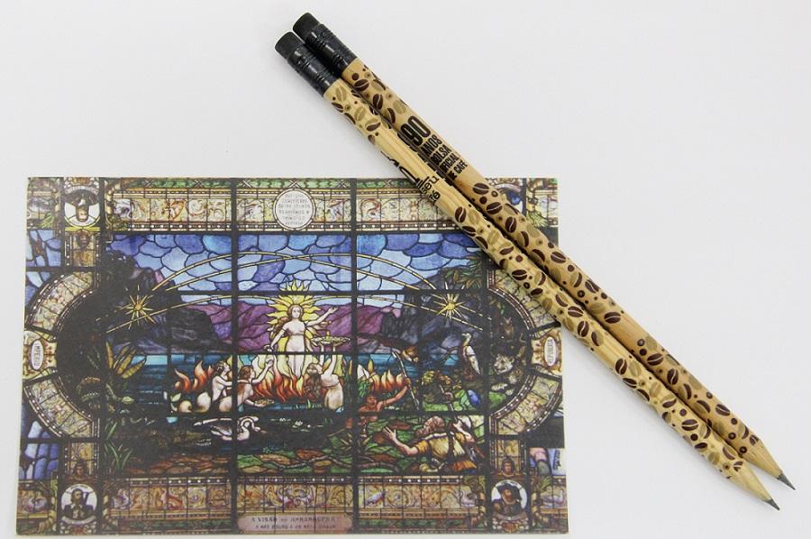 Kit Papelaria: postal + lápis
