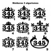 Número Residencial Casa Comercio Moldura 3 Algarismos
