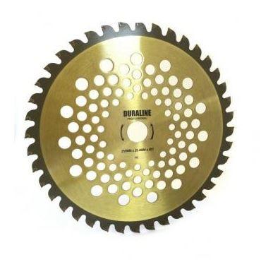 Disco Roçadeira Vídea Cromo Vanadium 255mm x 25,4mm x 40 Dentes