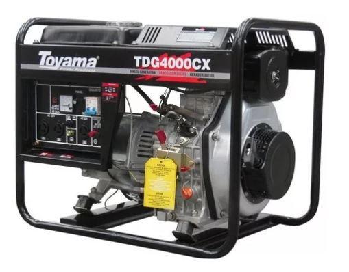 Gerador De Energia 6,7 Hp Diesel Tdg4000cx Toyama