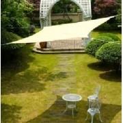 Toldo Tela de Sombreamento 4x4 m Quadrada Residencial / Comercial Bege Sombralux
