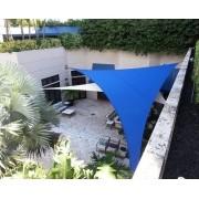 Toldo Tela de Sombreamento 4x4x5,6 m Triangular Residencial / Comercial Azul Sombralux