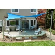 Toldo Tela de Sombreamento 4x2 m Retangular Residencial / Comercial Azul Sombralux