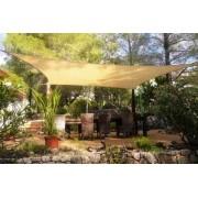 Toldo Tela de Sombreamento 4x2 m Retangular Residencial / Comercial Bege Sombralux