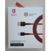 CABO USB TECIDO PREMIUM CA103 SMARTPHONE 2.1A LIGHTINING 1,2M FANCY