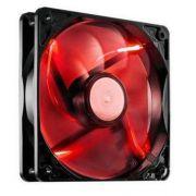 COOLER P/ GABINETE 12X12 BRAZILPC BPC 12 C/ LED SIMPLES VEMELHO OEM