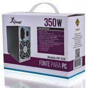 FONTE DE ALIMENTACAO ATX 350W REAL 2 SATA KP-526 24P KNUP