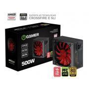 FONTE DE ALIMENTACAO ATX 500W REAL 80 PLUS BRONZE BPC/50080PLUS/B BRAZIL PC