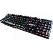 TECLADO - PRETO - USB - GAMER - KB-7010 - HARDLINE