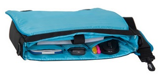 "MALA P/ NOTEBOOK 12"" - NYLON - AUML-A322-PT - PRETO/AZUL - AUTENTIC"