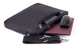 "MALA P/ NOTEBOOK 14"" - NYLON - AUML-A529-PT - PRETA - AUTENTIC"