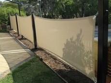 Toldo Tela de Sombreamento 4x2 m Retangular Residencial / Comercial Marrom Sombralux