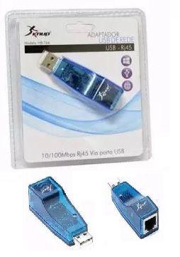 ADAPTADOR DE REDE USB ENTRADA DE RJ45 HB-T66 KNUP