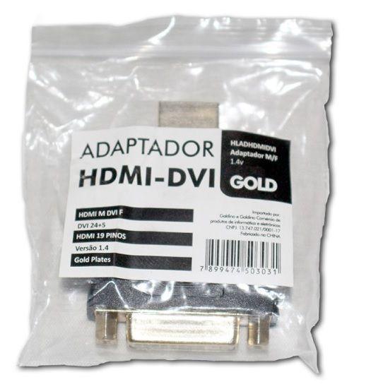 ADAPTADOR HDMI MACHO PARA DVI FEMEA