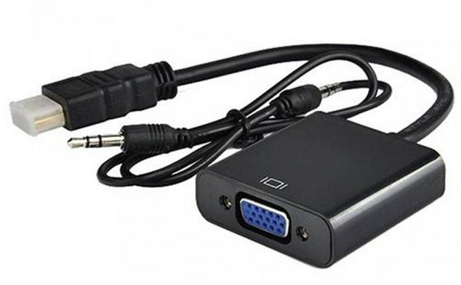 ADAPTADOR HDMI PARA VGA COM CABO DE AUDIO P2