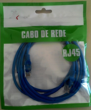 CABO DE REDE CAT5 RJ45 KP-C14  2M KNUP