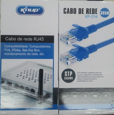 CABO DE REDE CAT5 RJ45 KP-C14 CAIXA 305M KNUP