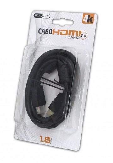 CABO HDMI 2.0V 4K ULTRA HD 6 MM  1,8 M PADRAO BLISTER