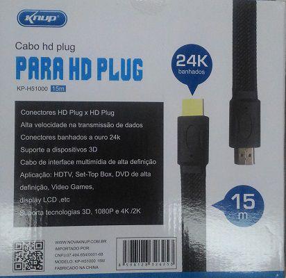 CABO HDMI x HDMI 15 M COM MALHA KP-51000 15M