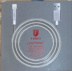 CABO USB METALICO 2.1A IPHONE LIGHTINING MOD CA-02i 1,2M FANCY