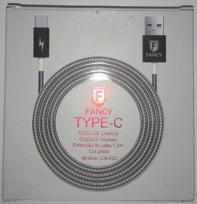 CABO USB METALICO 2.1A TYPE C MOD CA-02C 1,2M FANCY