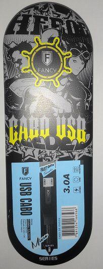 CABO USB TECIDO CA-H04V SMARTPHONE 3.0A MICRO (V8) MOD 1,2M FANCY