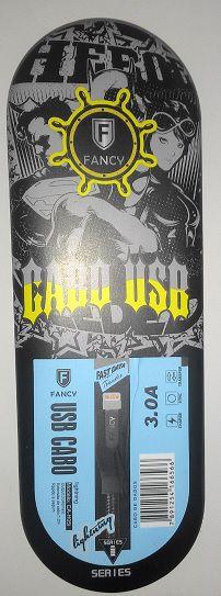 CABO USB TECIDO CA-H04i IPHONE 3.0A LIGHTINING MOD 1,2M FANCY